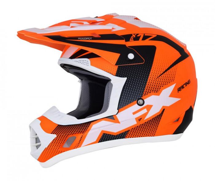 Casca Cross/ATV AFX FX-17 Holeshot culoare portocaliu neon negru alb marime S Cod Produs: MX_NEW 01105304PE