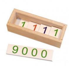 Jetoane mici 1 - 9000 - introducerea simbolurilor, Montessori
