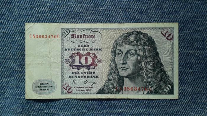 10 Mark 1980 Germania RFG, marci germane, seria CS3863476C