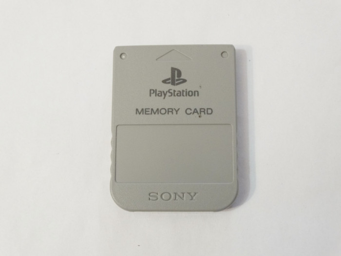 Card memorie Sony Playstation 1 PS1 Ps One 1 Mb - original - gri