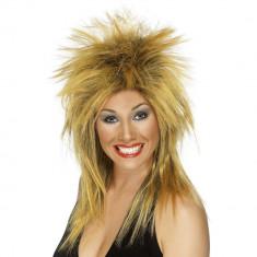 Peruca Rock Diva Blond Inchis - Carnaval24