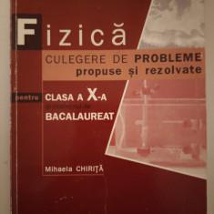 Fizică clasa a X-a culegere de probleme, Mihaela Chiriță