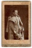 Fotografie veche Cabinet - Militar Ofiter uniforma Carol I - sfarsit secol XIX