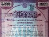 5000 Lei 1938 Mica Bucuresti actiuni vechi / Romania 758370