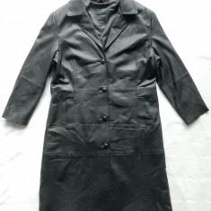 Palton piele naturala. Marime 48, vezi dimensiuni exacte; impecabil, ca nou