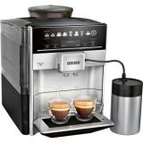 Espressor automat Siemens , 2 bauturi, 1500W, 15 bar, optiune cafea macinata, Negru/Argintiu ,TE653M11RW