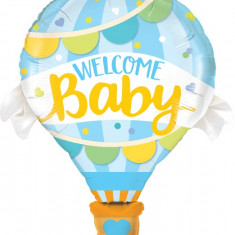 Balon Folie Figurina Welcome Baby Blue Balloon - 106 cm, Qualatex 78654