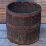 MASURA / BANITA VECHE DIN LEMN - AUSTRO-UNGARA - ANII 1800 - 10 LITRI CAP