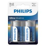 BATERIE ULTRA ALKALINE LR20 D BLISTER 2 BUC P, Philips