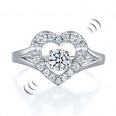 Inel Borealy Argint 925 Dancing Stone Heart Masura 6