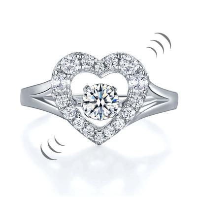 Borealy Inel Argint 925 Diamond Dancing Heart Masura 5 foto