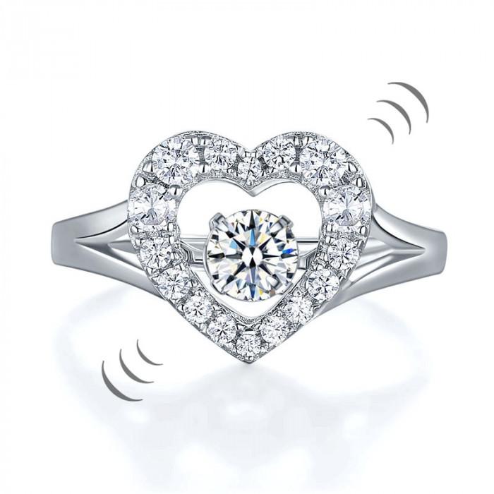 Borealy Inel Argint 925 Diamond Dancing Heart Masura 5