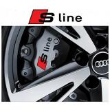 Sticker Etriere Audi S-Line Negru