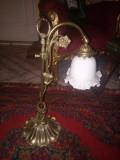 Rafinată lampa antica pentru birou din bronz masiv
