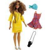 Papusa cu haine de schimb Barbie Fashionistas 86 Glam Boho