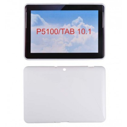 Husa Silicon S-Line Sam Galaxy Tab 2 (10.1inch ) P5100 Alb