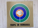 Trips in romania RSR pliant turism ghid in limba engleza ilustrat colectie hobby