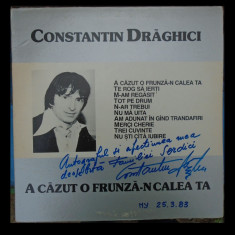 Disc vinil unic - Constantin Draghici LP cu autograf!!