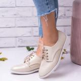 Pantofi dama bej casual Bripomo