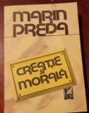 CREATIE  SI  MORALA  MARIN PREDA