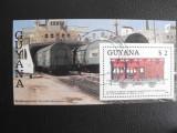 GUYANA Bloc 35 obliterat Vagon CF de dormit austriac din 1873, Stampilat