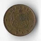Moneda 1 ban 1900 - Romania