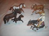 Schleich - 6 figurine cai si un cowboy, Unisex