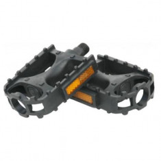 Pedale pentru bicicleta, din plastic, negre, YTGT-50124