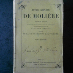MOLIERE - OEUVRES COMPLETES volumul 3  (editie veche)