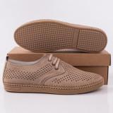 Pantofi barbati Piele perforati gri Klivel