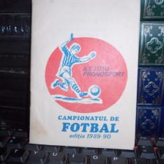 CAMPIONATUL DE FOTBAL , EDITIA 1989-90 * A.S. LOTO-PRONOSPORT