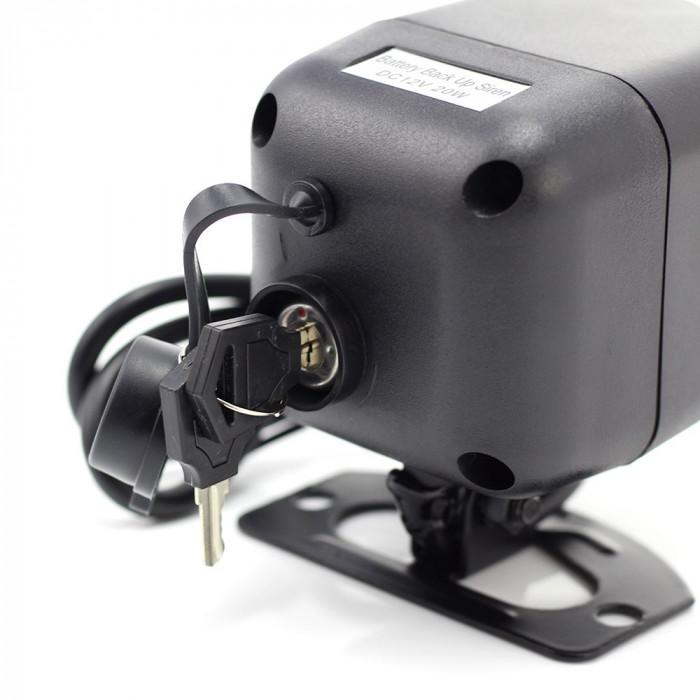 Sirena auto Carguard, acumulator incorporat 20W mini, SIN004