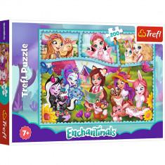 Puzzle clasic pentru copii - Enchantimals Prieteni Extraordinari 200 piese, Trefl foto