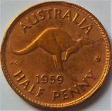 Cumpara ieftin Moneda HALF PENNY - AUSTRALIA, anul 1959 *cod 1000 B, Australia si Oceania