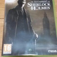 Joc XBOX 360 The testament of Sherlock Holmes original PAL / by WADDER