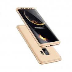 Husa Telefon Plastic Samsung Galaxy S9 Plus g965 360 Full Cover Gold