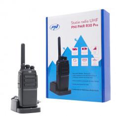 Resigilat : Statie radio UHF portabila PNI PMR R30 Pro, 1 buc, acumulator 1200 mAh