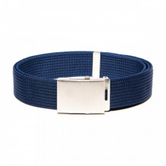 Curea pentru barbati, culoare albastru, lungime ajustabila, catarama din metal - A029