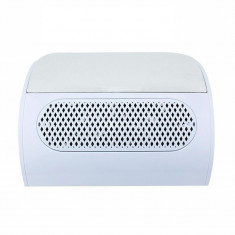 Aspirator manichiura Lidan, 3 ventilatoare, colector praf, alb