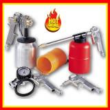 Kit Compresor 5 Accesorii Furtun Manometru Pistol Vopsit Set accesorii compresor
