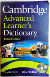 CAMBRIDGE ADVANCED LEARNER'S DICTIONARY , THIRD EDITION , EDITED by COLIN MCINTOSH , 2008 + CD*
