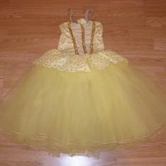 costum carnaval serbare rochie dans balet floare margareta copii de 5-6-7 ani
