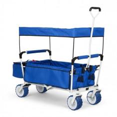Waldbeck THE Blue SUPREME, cărucior de mână, pliabil, 68 kg,acoperiș de soare