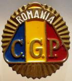 I.861 ROMANIA CUC/INSEMN SAPCA CASCHETA/INSIGNA CORPUL GARDIENILOR PUBLICI