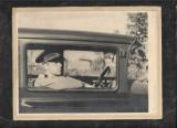 Fotografie sergent roman TR elev cavalerie 1939 in automobil de epoca