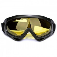 Ochelari unisex ski, snowboard si multe alte sporturi, lentila galbena