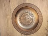 Farfurie lemn frumos decorata