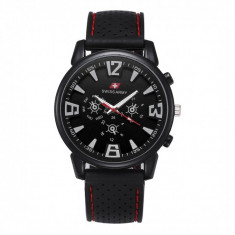 Ceas Barbatesc, curea silicon, stil sport, Swiss Army CS102