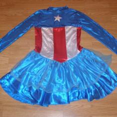 costum carnaval serbare captain american pentru copii de 8-9-10 ani