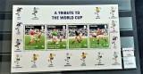 GIBRALTAR 1998 - Fotbal , Bloc de 4 valori, Nestampilat